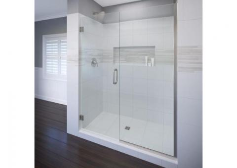 Basco Celesta frameless glass swing door & panel shower door